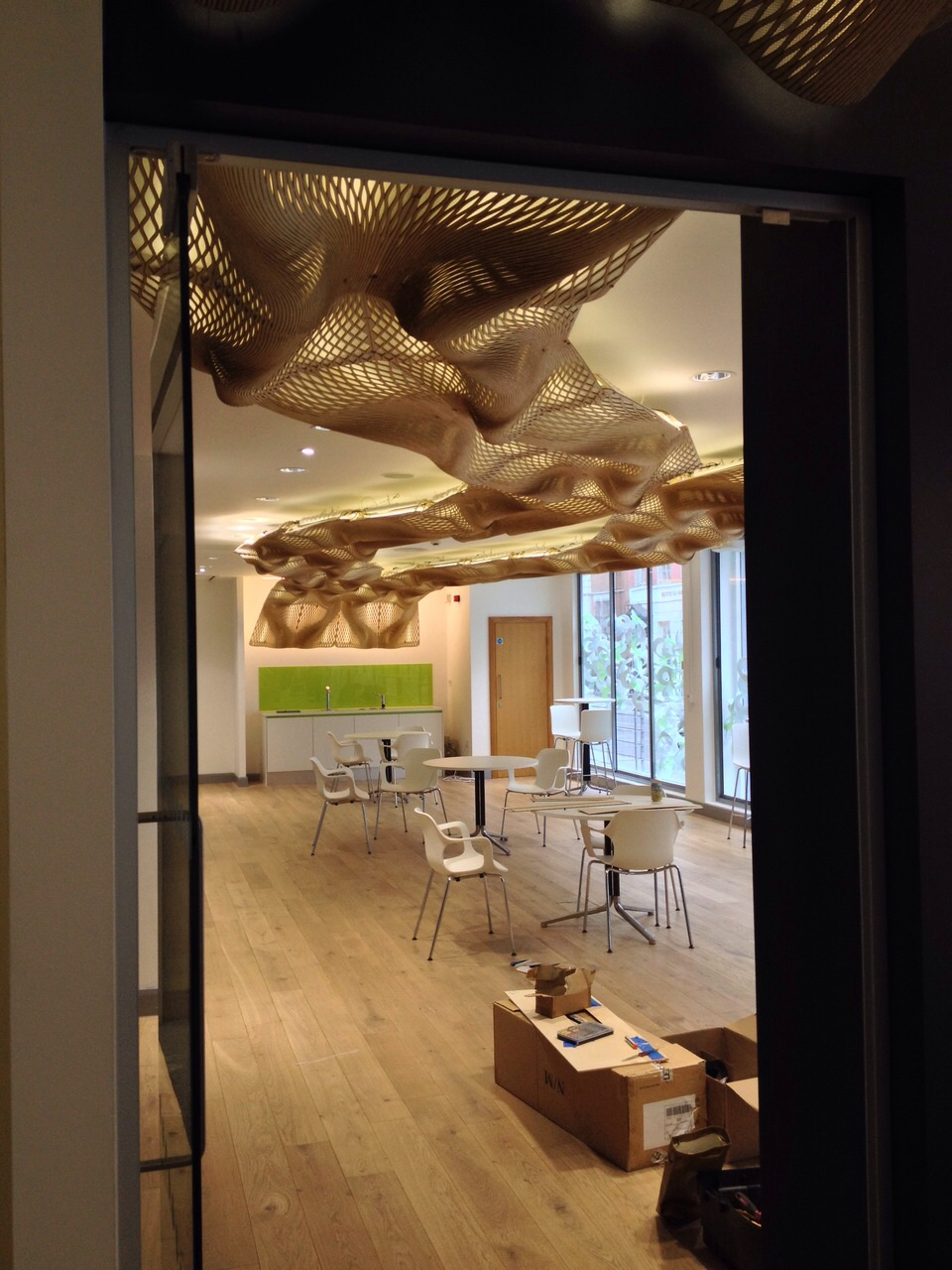 The wooden waves at burohappold engineering mamou mani for Buro restaurant